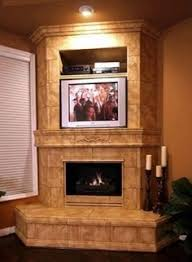 Corner Gas Fireplace With Tv Above by Simple Design Corner Foreplace With Tv Above House Pinterest