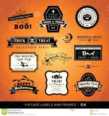 halloween lables vintage halloween badge labels and frames stock vector image