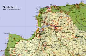Cornwall England Map by Large Map Of North Devon