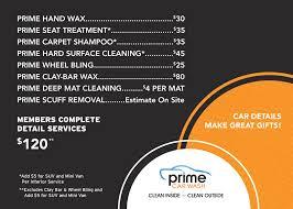 Deep Interior Car Cleaning Prime Detail Services Prime Car Wash