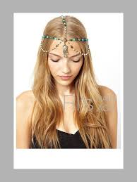 chain headband wholesale pearl blue chain headbands for women vintage