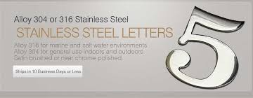 stainless steel sign letters and numbers ordering page