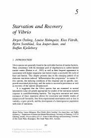 starvation and recovery of vibrio springer