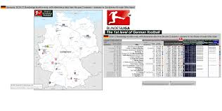 Freiburg Germany Map by 2016 17 Bundesliga Germany 1st Division Location Map With 15