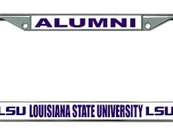 lsu alumni license plate fighting tigers etsy