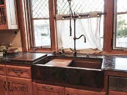 copper kitchen sink faucets workstation copper sinks with cutting boards and copper grid drains