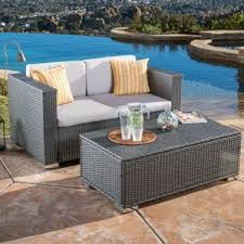 Outdoor Sofa Sets by 3 Seat Outdoor Sofa Wayfair