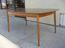 blond walnut dining table by drexel at 1stdibs