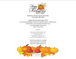thanksgiving dinner menu template medium size of pictures