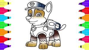 drawing coloring paw patrol chase pups save simple