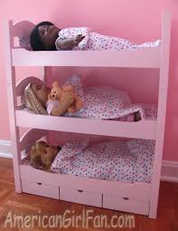 Review Of Emily Rose Triple Doll Bunk Bed AmericanGirlFan - Dolls bunk bed
