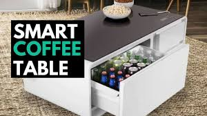 smart coffee table fridge sobro the smart coffee table with a built in fridge and speakers
