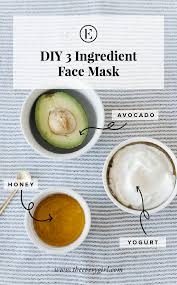 At Home Diys by At Home Avocado Honey U0026 Yogurt Face Mask The Everygirl