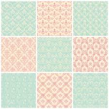 backgrounds set seamless wallpaper floral vintage pastel colors