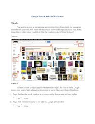 Canopy Synonyms by Google Search Activity Worksheet