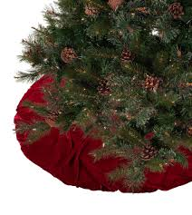 peculiar red pintucked velvet tree skirt tree skirts xmas tree