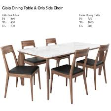 gioia dining table and orlo side chair 3d model cgtrader