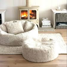 Fuzzy White Ottoman Outstanding Fuzzy White Ottoman Chair Bean Bag Fluffy