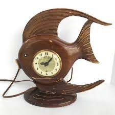 details about vintage lanshire movement wood tropical fish
