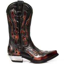 cowboy boots uk leather newrock 7921 cowboy leather black zip boots uk 11