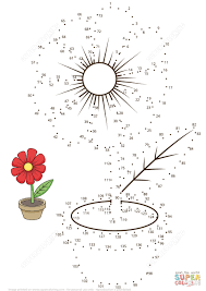 connect the dots flower connect the dots picture puzzle and