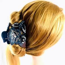 hair claw blooming hair claw jaw clip handmade use swarovski