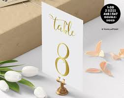 what size are table number cards gold wedding table number table number cards printable