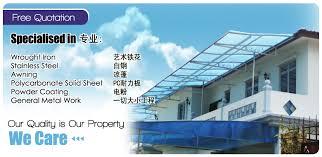 Metal Awning Prices Renovation Metal Works Johor Bahru Jb Malaysia Zheng Thong