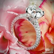 366 best ring images on rounded pave diamond engagement ring 2389