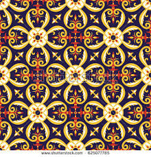 italian wrapping paper tile pattern vector seamless portugal mexican stock vector