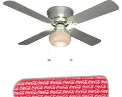 1997 coca cola ceiling fan coca cola l etsy
