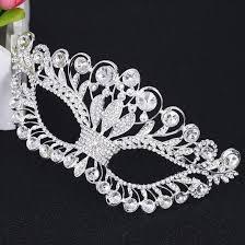 silver mask bling brides princess silver venetian masquerade mask party wedding