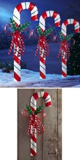 Christmas Decorations Outdoor Candy Canes by 153 Best Outdoor Christmas Ideas Images On Pinterest Christmas