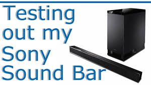 sony home theater system ht ct260h testing out the sony ht ct150 sound bar youtube
