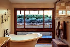 Bathroom Window Trim Custom Window Trim Bathroom Mediterranean With Stone And
