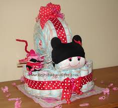 baby shower diaper cake minnie mouse diaper cake tutorial
