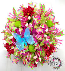 beautiful deco mesh wreath ideas you will love southern charm