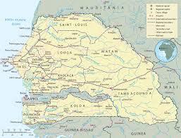 africa map senegal map of senegal dakar travel africa