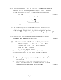 Define Water Table Objectives Of Compaction Soil Mechanics And Geology Old Exam