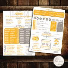 Making Wedding Programs Custom Infographic Wedding Program
