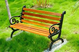 wooden park bench at a park in china stock photo picture and
