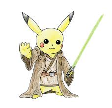 new drawing jedi pikachu