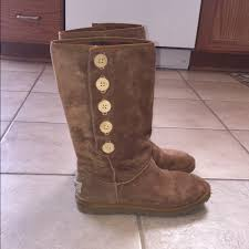 ugg s boots brown thin button uggs no fur brown uggs uggs and boot