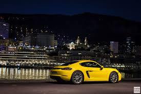 porsche cayman yellow first drive porsche 718 cayman racing yellow in south of france