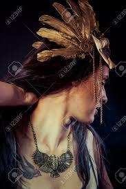 viking warrior hair viking warrior woman with gold mask long hair brunette long