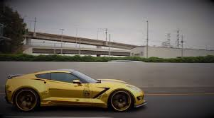 chrome wrapped cars gold chrome wrapped corvette is as flashy as they come u2013 video