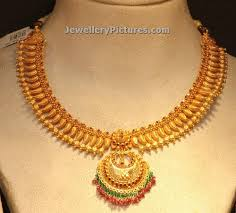 gold necklace simple design images Simple gold necklace designs with chandbali pendant ankithalatha jpg