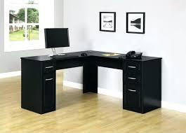 black corner desk desks wood l shaped small with hutch ikea brown