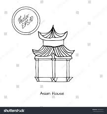 hand drawn sketch detached asian chinese stock vector 324696875