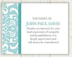 thank you card wording thank you card after funeral wording for
